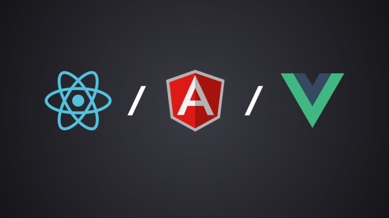 angular vs react vs vue web development